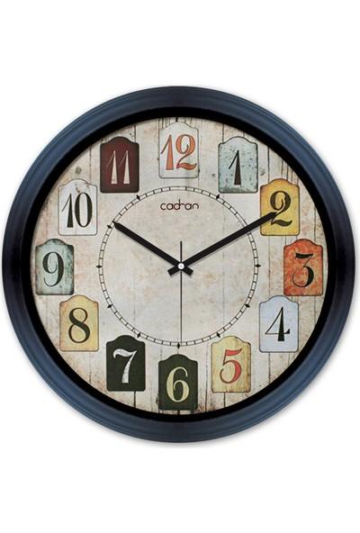 Cadran Fashion Clock Dekoratif Camlı Duvar Saati