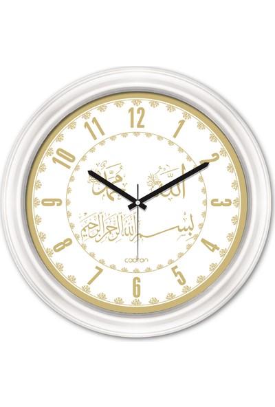 Cadran Dini Temalı Dekoratif Camlı Duvar Saati
