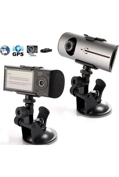Kingboss GPS Özellikli Çift Yönlü Araç İçi Kamera