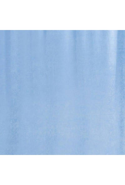 Jakist Dekoratif Süet Petek Tek Kanat Fon Perde (Açık Mavi)