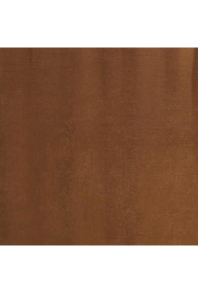 Jakist Dekoratif Süet Petek Tek Kanat Fon Perde (Kahverengi)