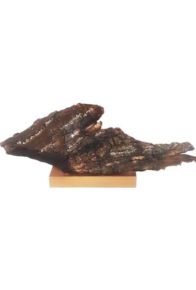 Balık Şekilli Doğal Ağaç Kabuğu Dekoratif Obje