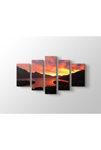 Dekorme Manzara 5 Parçalı Kanvas Tablo