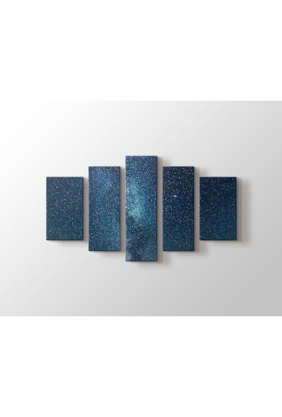Dekorme Gökyüzü 5 Parçalı Kanvas Tablo