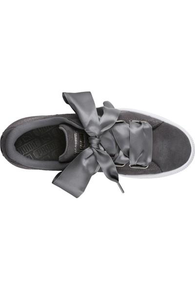 Puma Gri Kadın Ayakkabısı 36611401 Suede Heart Lunalux Wn'S
