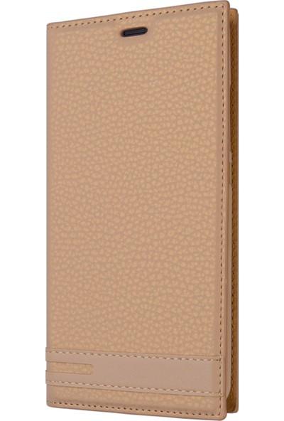 Microsonic Asus Zenfone Live (5.5'') ZB553KL Kılıf Gizli Mıknatıslı Delux Gold