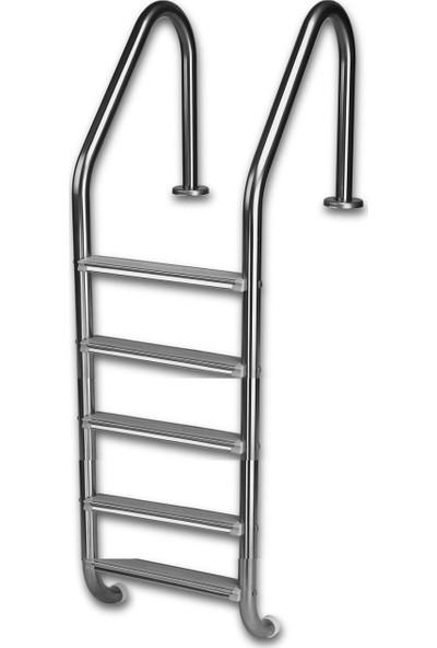 Gemaş Standart 5 Basamaklı 304 Model Paslanmaz Havuz Merdiveni