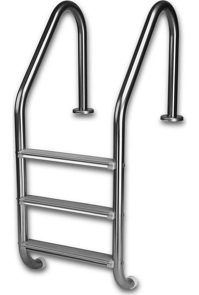 Gemaş Standart 3 Basamaklı 304 Model Paslanmaz Havuz Merdiveni