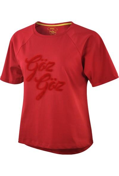 Göztepe Kadın Gözgöz Sakallı Flok T-Shirt