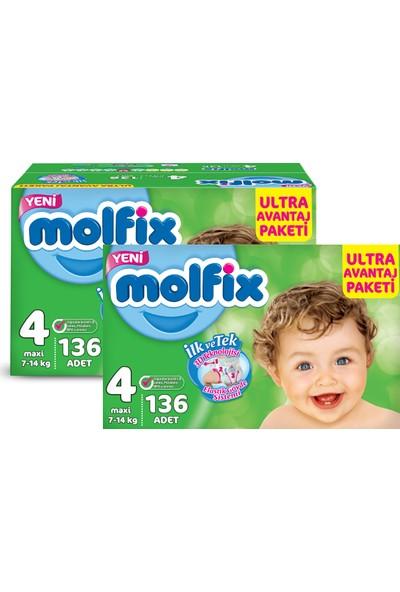 Molfix Bebek Bezi Comfort Fix Ultra Avantaj Paketi Maxi 4 Beden 272 Adet