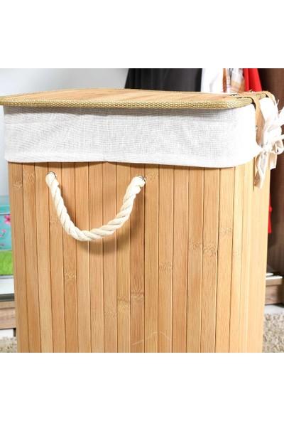 Adore Handy Mate Bambu Çamaşır Sepeti - Naturel