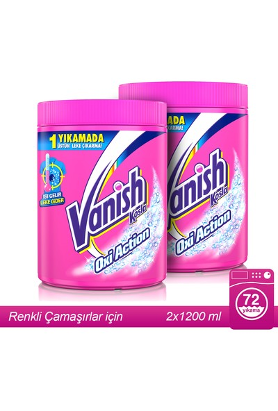 Vanish Kosla Oxi Pembe Toz Leke Çıkarıcı 1200 gr x 2 Adet