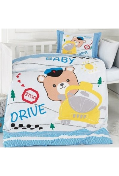 Özdilek Bebek Nevresim Takımı Driver Mavi