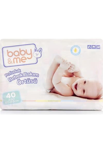 Baby&Me Pofuduk Alt Değiştirme Örtüsü 60 x 60 cm 40 Adet