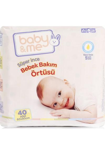 Baby&Me Süper İnce Alt Değiştirme Örtüsü 60 x 90 cm 40 Adet