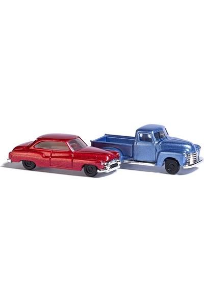 Busch Model Araba Maketi Seti 1/160 N:8349 Chevy Pick-Up, Buick