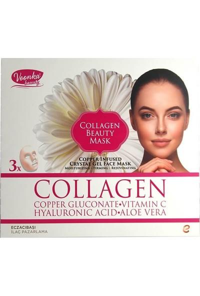 Voonka Collagen Beauty Mask Bakır İlaveli Kristal Jel Yüz Maskesi