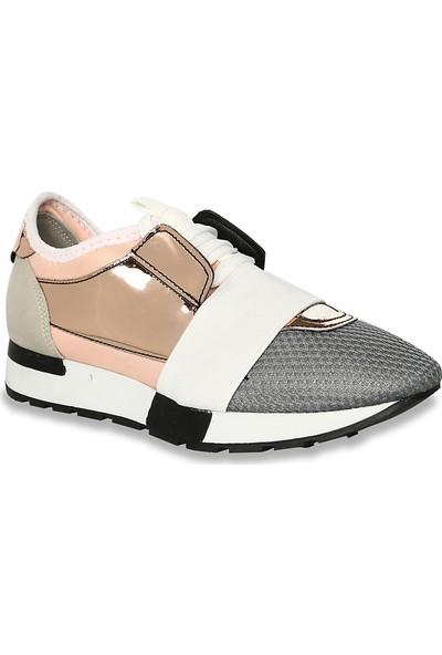 Iva Mae 1081- Pembe Bakır Ayna Kadın Sneaker