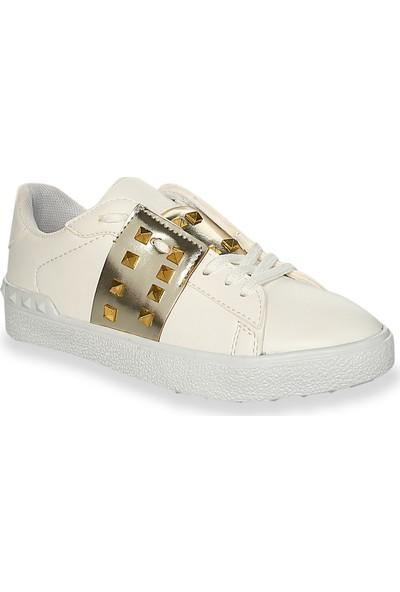 Iva Mae 1104- Beyaz Altın Kadın Sneaker
