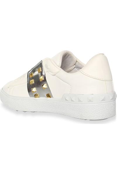Iva Mae 1104- Beyaz Gümüş Kadın Sneaker