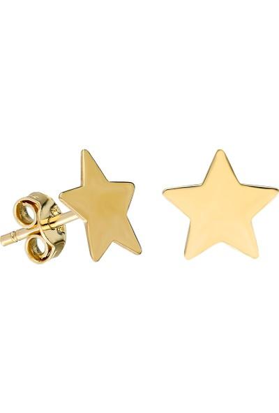 Glorria Altın Yıldız Küpe