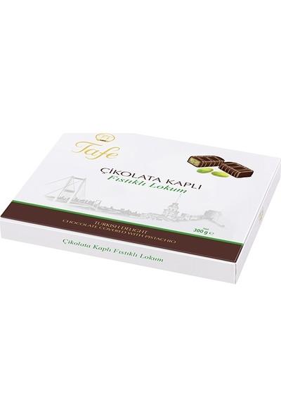 Tafe Çikolata Kaplı Fıstıklı Hediyelik Kutu Lokum 300 gr