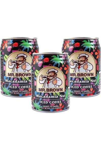 Mr.Brown Macadamia Nut İced Coffee 3 x 240Ml