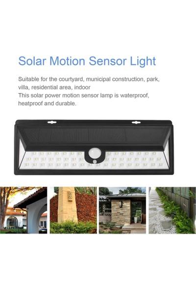 Generic Güneş Enerjili 56 Led Li Bahçe Aydınlatma Solar Dış Mekan Lambası Hareket Sensörlü