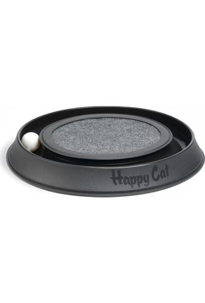 Georplast Happycat Plastik Kabı Ve Karton Tırmalama Alanı 41 X 38 X 5 Cm Siyah