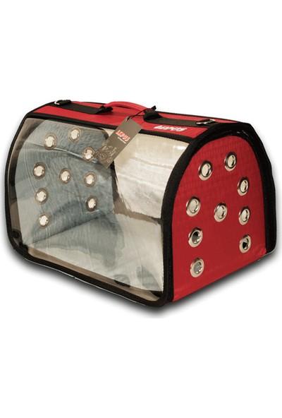 Lps-706-22 Lüx Seffaf Fly Bag Çanta Kırmızı