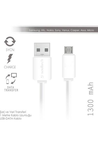 Soultech 1300 mAh Micro USB Data Kablo (DK014)