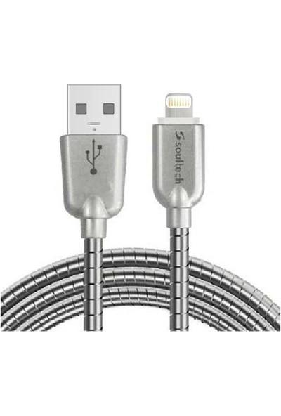 Soultech 2.4 A Lightning ( Apple ) Hızlı Data Şarj Kablosu Metal