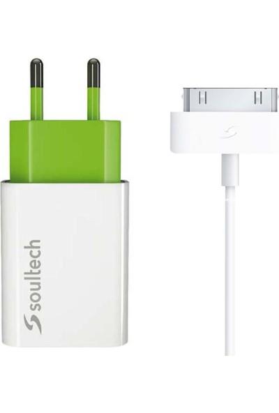 Soultech 1.1 A Ev Şarj Adaptörü & 30-Pin Data Şarj Kablosu