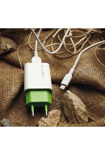 Soultech 1.1 A Ev Şarj Adaptörü & Lightning Data Şarj Kablosu