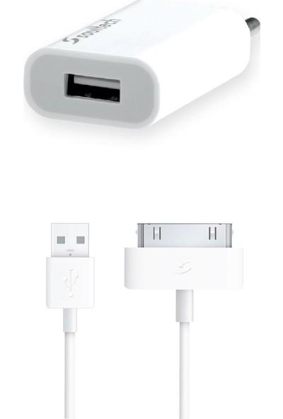 Soultech 1100 mAh iPhone 4/4S USB Sarj Aleti Ve Kablo (SC008B)