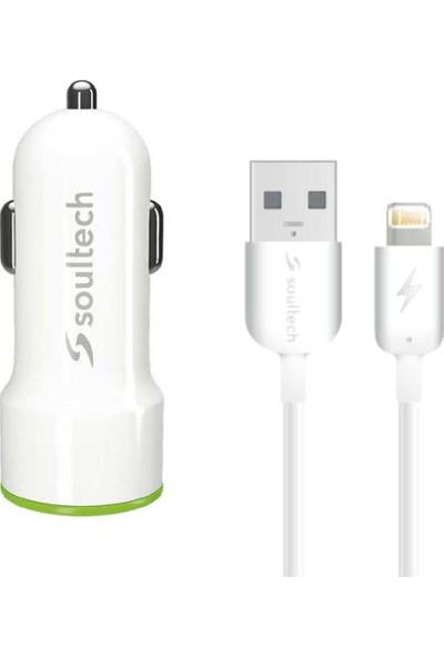 Soultech 2.1 A Araç Şarj Adaptörü & Lightning Data Şarj Kablosu