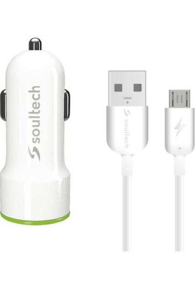 Soultech 2.1 A Araç Şarj Adaptörü & Micro USB Data Şarj Kablosu