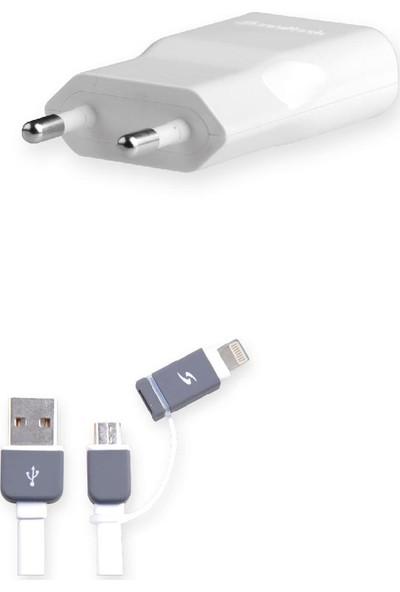 Soultech 2000 mAh iPhone Ve Micro Giriş Multi USB Hızlı Şarj