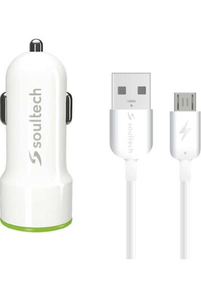 Soultech 3.1 A Fast 2 Hızlı Araç Şarjı & Micro USB Şarj Kablosu