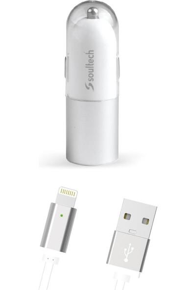 Soultech 3100 mAh 2 USB Ve iPhone Lightning Kablolu Araç Şarjı