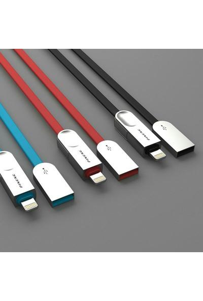 Pineng PN-307 Lightning ve Micro USB Mavi Kablosu