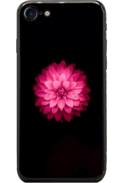AntDesign iPhone 7 / iPhone 8 Cam Baskı Desenli Kılıf Flower