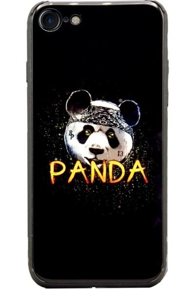 AntDesign iPhone 7 / 8 Cam Baskı Desenli Kılıf Kung Fu Panda