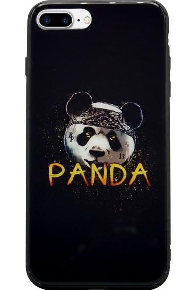AntDesign iPhone 7 Plus / 8 Plus Cam Baskı Desenli Kılıf Panda