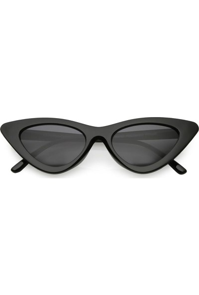 Retro Üçgen Cat-Eye Bayan Güneş Gözlüğü Siyah