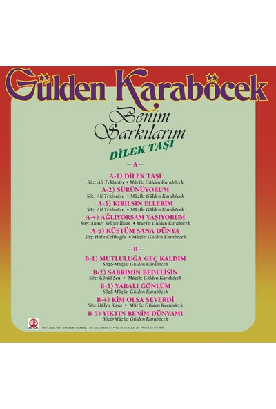 Gülden Karaböcek - Benim Şarkılarım (Plak)