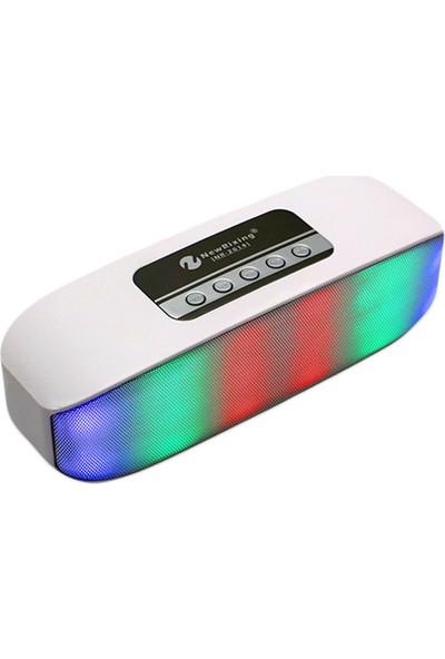 Schulzz NR-2014 Kablosuz Mini Bluetooth Hoparlör Beyaz
