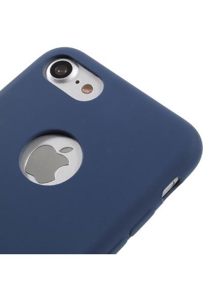 Vorson VC 005 iPhone 7 Rubber Silikon Metal Plakalı Kılıf
