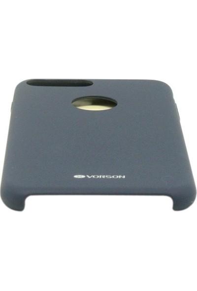 Vorson VC 005 iPhone 7 Plus Rubber Silikon Metal Plakalı Kılıf
