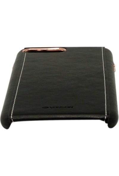 Vorson VC 015 iPhone 7 Plus Kenar Dikişli PU Deri Kılıf